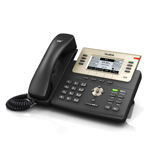 "Yealink SIP-T27G Yealink Executive IP-Phone, 6SIP, 3.6"" 240x120, PoE"