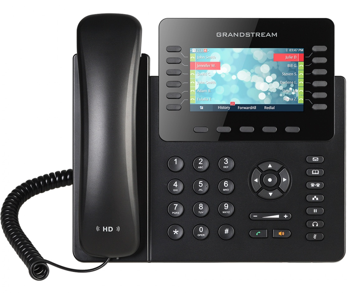 GXP2170 IP-Phone 6 คู่สาย, Bluetooth, 2 Port Lan, HD Audio, LCD Color, 5-Way Conference, PoE