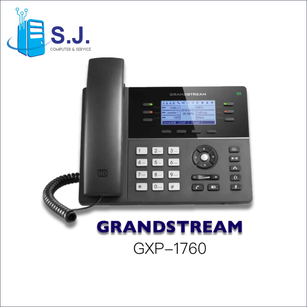 โทรศัพท์สํานักงาน IP PHONE GRANDSTREAM GXP1760  6-line Powerful Mid-range HD IP Phone