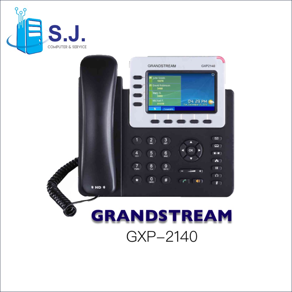 โทรศัพท์สํานักงาน IP PHONE GRANDSTREAM GXP-2140 - Enterprise IP Telephone 4 Line